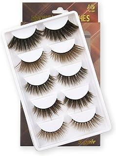 Sponsored Ad - AGANIPPE Natural Brown Eyelashes , 5 Pairs Fasle Eyelashes Natural Look, Demi Wispies Eyelashes Fluffy, Han...