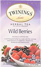 Twinings B25886 Twinings Herbal Wild Berries Tea - 6x20 Bag