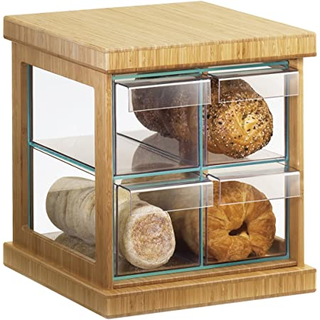Cal Mil Bamboo 4 Drawer Bread Case Bread Boxes Kitchen Dining
