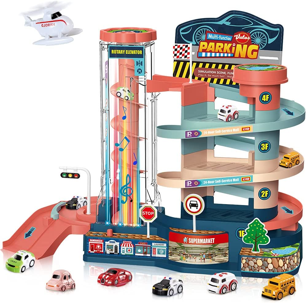 VATOS Garage Track Set Toy for Electric Toddler We OFFer at cheap prices Limited time free shipping Manual - Kids