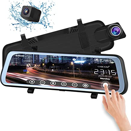 CHICOM V21 9.66 inch Mirror Dash Cam Touch Full Screen ;...