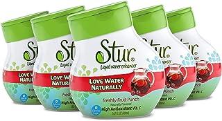 Stur - Fruit Punch, Natural Water Enhancer, (5 Bottles, Makes 100 Flavored Waters) - Sugar Free, Zero Calories, Kosher, Li...