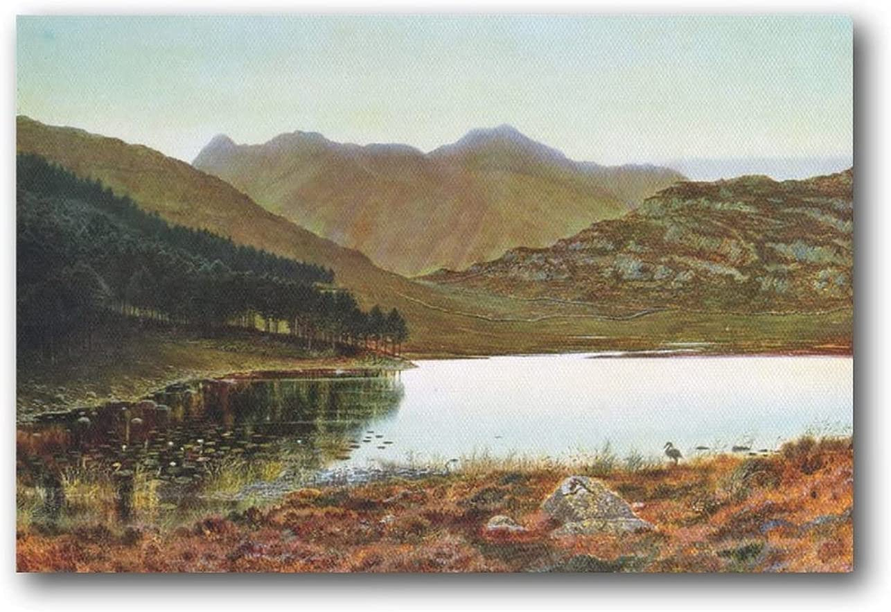 Impressionism Artist John Atkinson Raleigh Mall Tarn Paintings Blea Grimshaw Selling rankings