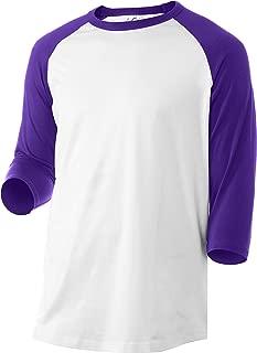 Casual 3/4 Sleeve Baseball T-Shirt Raglan Jersey Tee Unisex Men Women 10 Colors Fit Soft Cotton Jersey S-5XL