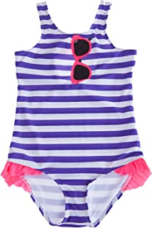 beautyin Little Girl's Cute Stras One Piece Swimsuit Printed Bathing Suit