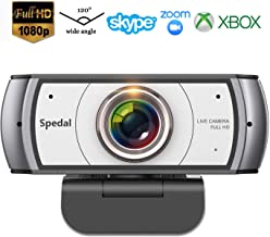 Wide Angle Webcam,120 Degree View Spedal 920 Pro Video Conference Distance Learning Remote Teaching Camera, Full HD 1080P Live Streaming Web Cam with Built-in Microphone for Mac, PC, Laptop, Desktop