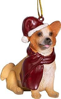 Best Design Toscano Christmas Xmas Welsh Corgi Holiday Dog Ornaments, Full Color Reviews