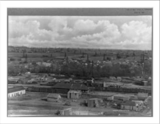 Historic Print (L): Birdseye view of Glenn Pool oil field, Tulsa (vicinity), ...