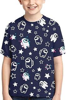 LUENSRO Kids T Shirts Short Sleeve Casual Boys Tee Tops