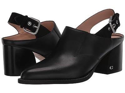 COACH Payson Chain Bootie (Black/Black Leather) Women