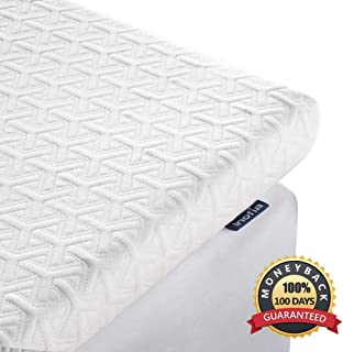 Inofia King Mattress Topper, 2.5-Inch Memory Foam Mattress Pad in Box, American Made Quality CertiPUR-US Foam, Double Bed Topper with Cooling Breathable & Removable Tencel Cover, King