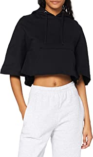 Urban Classics Ladies Cropped Hooded Poncho T-Shirt Donna