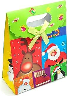 SOIMISS Scatole di Caramelle Natalizie Scatole Regalo di Carta Scatole di Biscotti di Pan di Zenzero con Finestra in Pvc 3Pz
