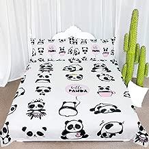 ARIGHTEX Panda Bear Bedding Twin Kawaii Panda Bedspread Kids Girls Cute Panda Bed Set 3 Piece Black White Pink Animal Bed Cover