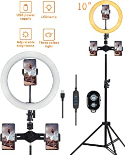 ZABB 6 Photography Dimmable LED Selfie Ring Light YouTube Video Live 3200K-5600K Photo Studio Light