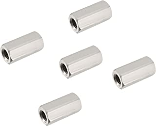 2pcs M6 x 35mm Long x 10mm Hex Rod Coupling Nuts Stainless Steel Long Nut ABBOTT