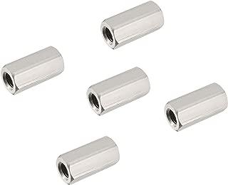 ZLYY M8 x 1.25-Pitch 28mm Length Long Rod Metric Hex Coupling Nut 10 Pack Zinc Plated