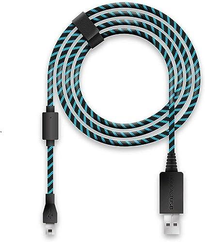 Lioncast Câble de Recharge 4m / Câble USB/Câble de Manette pour PS4 et Xbox One, Xbox One X/Câble de Recharge 4 mètre...