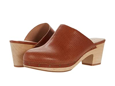 Madewell The Ayanna Clog in Lizard Embossed Leather (Warm Nutmeg) Women
