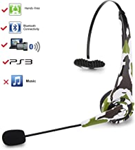kiwitat?? Truck Driver Wireless Bluetooth Headset Headphone Over the Head For Playstation 3 PS3 Console Video Games Gaming Headset With Mic (Camouflage Green)