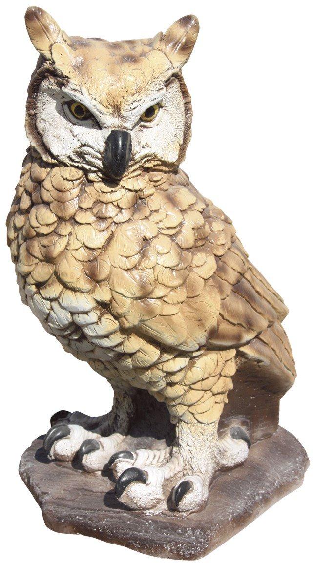 AnaParra Animales Reales Figura de Búho Decorativa para Jardín o Exterior Hecho de Piedra Artificial Peso 18 Kg | Figura Búho Grande de 42cm. de Alto, Color Real: Amazon.es: Jardín