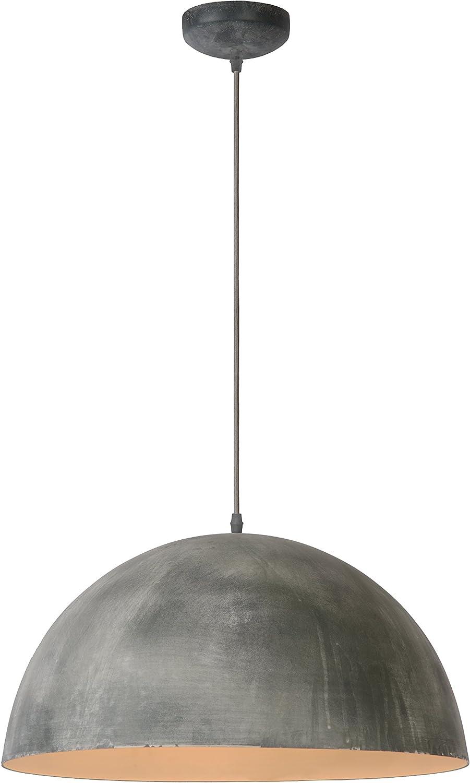 Lucide Mattie - Pendelleuchten - Durchmesser 50 cm, Metall, E27, 60 W, grau, 50 x 50 x 135 cm