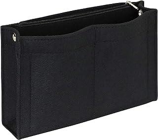 Joqixon Mini Felt Purse Organizer Insert Small Tote Bag organizer with Zipper