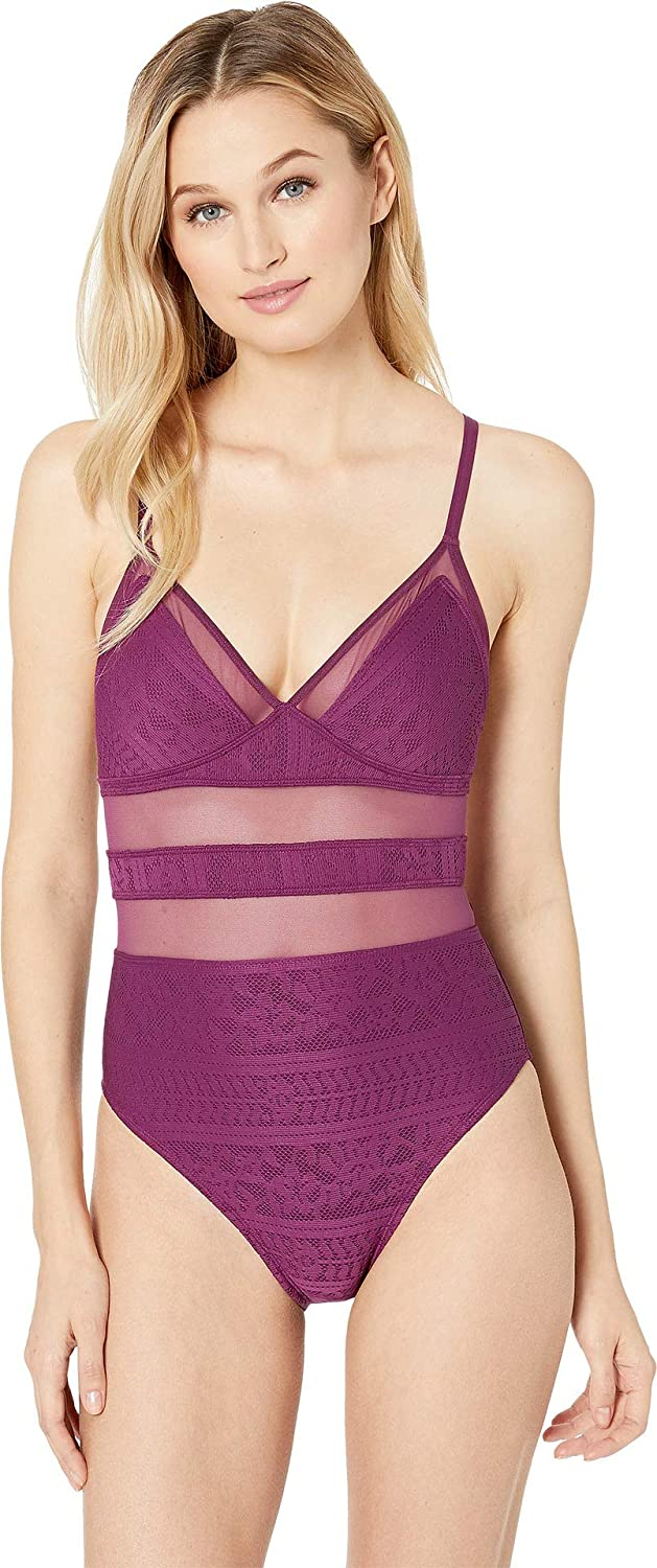 blue   Rod Beattie Womens Over The Shoulder CrossBack Mio with Removable Cup