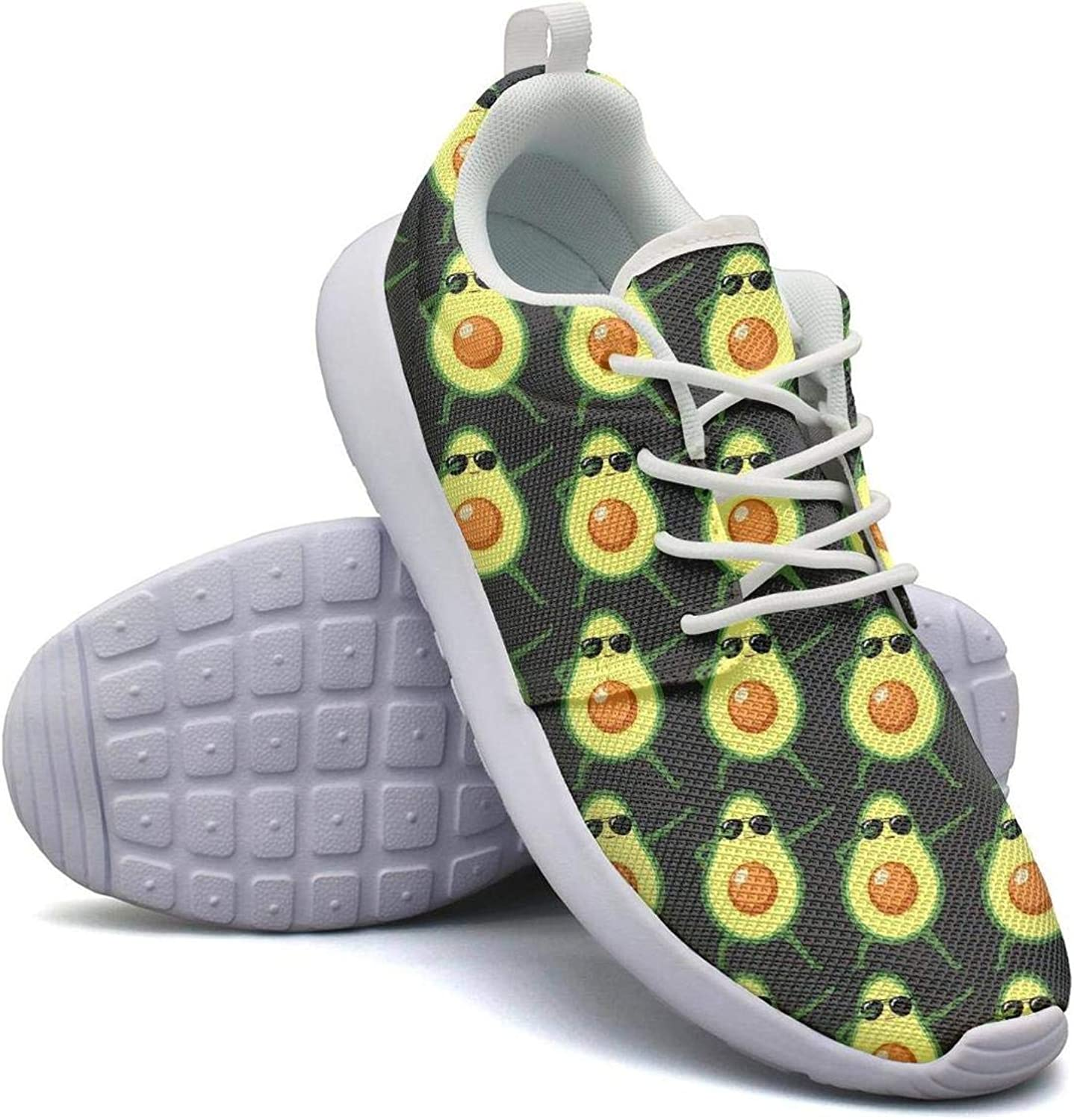 FEWW11 Women Cute Lightweight shoes Sneakers Yellow Pizza Life Cozy Gym Lace-Up
