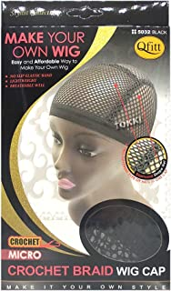 Qfitt Make Your Own Wig Micro Crochet Braid Wig Cap #5032 Black