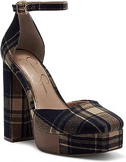 Jessica Simpson Women's Kymmie حذاء بكعب عالٍ ، أسمر ضارب للصفرة ، 7