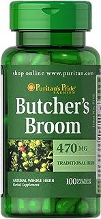Puritans Pride Butcher's Broom 470 Mg, 100 Count