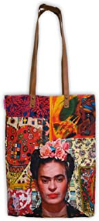 Bolso Moda Urbana. Asa al Hombro, Impresión Digital sobre Lona de algodón suavizada. Frida Kahlo