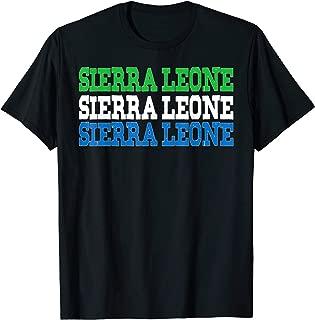 SIERRA LEONE | Sierra Leonean Flag Sports Lovers T-Shirt