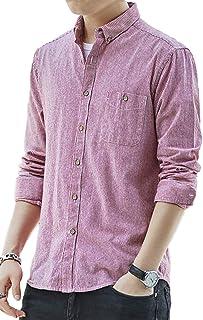 [ジェームズ・スクエア] カジュアル ボタンダウンシャツ ストライプ柄 長袖 シャツ 4カラー M~3XL メンズ