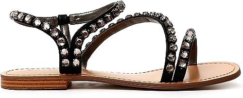 Cafè Noir KGA919323360 323 323 MultiCouleur 36 Sandale avec Accessoire Strass  abordable