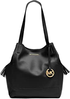 Michael Michael Kors Ashbury Large Leather Grab Shoulder Bag in Black