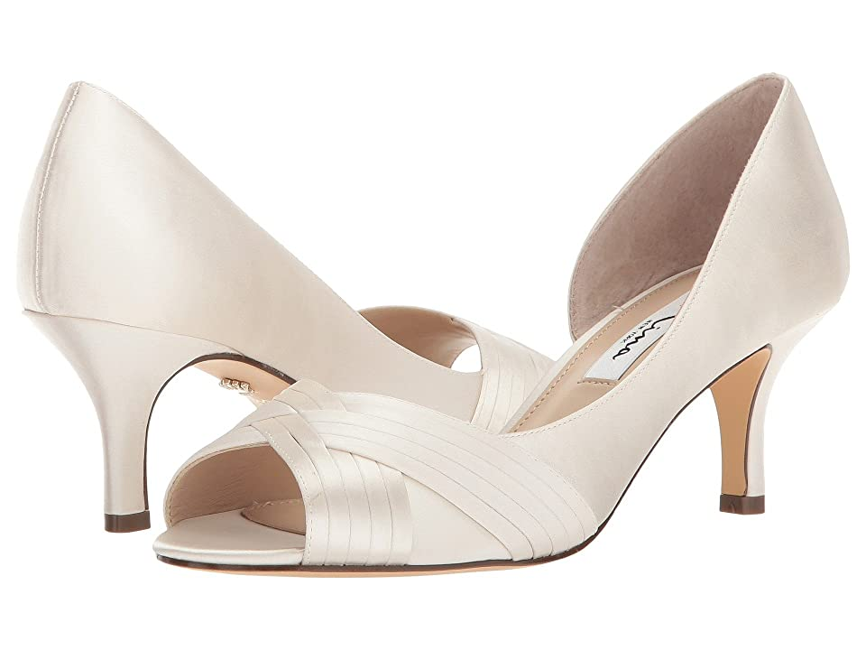 Nina Contesa (Ivory Crystal Satin) High Heels