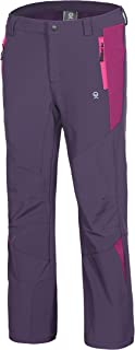 Girls' Winter Hiking Ski Snowboarding Pants, Softshell Pants, Fleece Lined and Water Repellant
