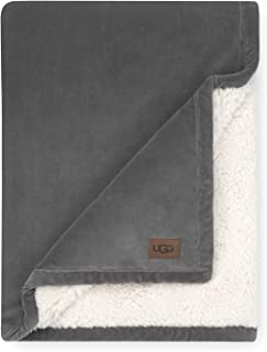UGG Bliss Sherpa Throw One Size Charcoal