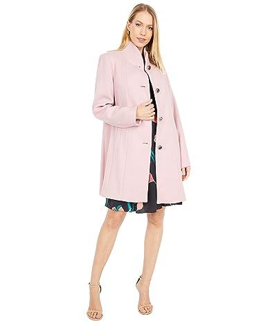 Kate Spade New York Single Breasted Wool Twill Coat (Chalk Pink) Women