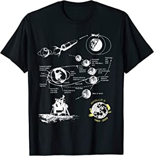 First Moon Landing 50th Anniversary of Apollo 11 Mission T-Shirt