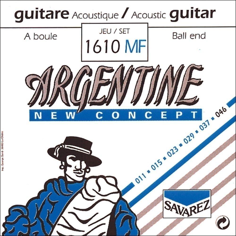 Savarez Cuerdas Para Guitarra Acustica Argentine Si2-1012Mf Con Lazo