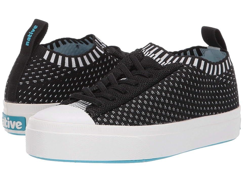 Native Kids Shoes Jefferson 2.0 Liteknit (Little Kid) (Jiffy Black/Shell White) Kids Shoes