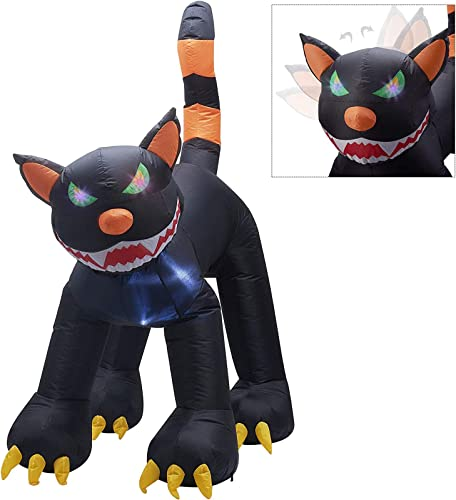 popular Twinkle Star Inflatable Halloween lowest Decorations 6.5 ft Black Cat with LED Flashing Eyes and Moving Head, Home Yard Lawn Garden Party popular Outdoor Decor outlet sale