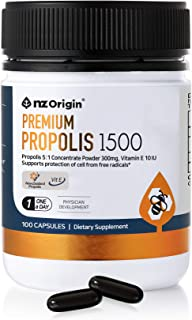 NZ ORIGIN NATURAL OF ZENITH New Zealand Premium Propolis 1500, 100 Capsules, Bottle, Men, Women, Kids Dietary Supplements,...