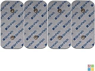 """StimPads Electrodos para Compex*, envase con 4 electrodos 50x100mm de """"Snap Dual"""". ¡Funcionan a la perfección con Compex*,100% compatibles! ¡Ahorra hasta el 50% en comparación con los Originales!"""