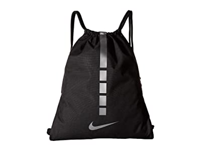 Nike Hoops Elite Gymsack 2.0 (Black/Black/Metallic Cool Grey) Backpack Bags