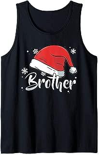 Mens Brother Christmas Santa Bro Matching Family Group Pajama Tank Top