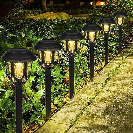 Lot de 10 Lampes Solaires de Jardin, LED Etanche Lampe sans Fil Extérieures au Sol Décoration pour Jardin Allée Terrasse Pelouse Chemins